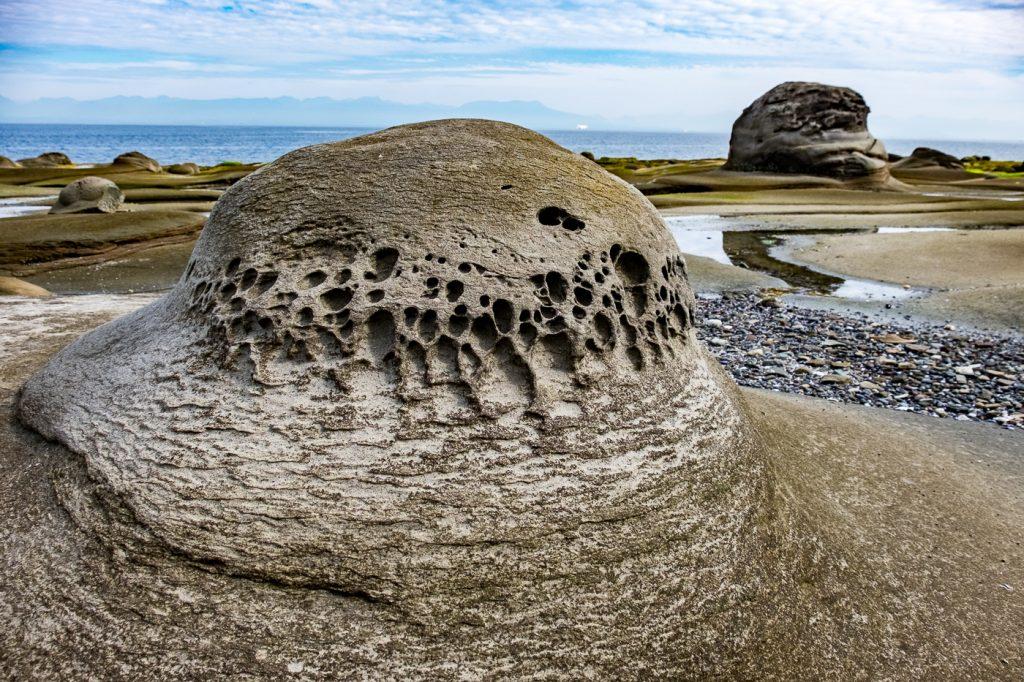sandstone rock formations Gabriola Island.