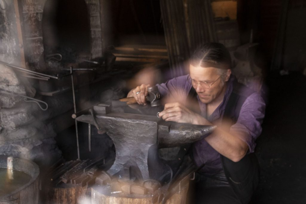 photographic art with a blacksmith