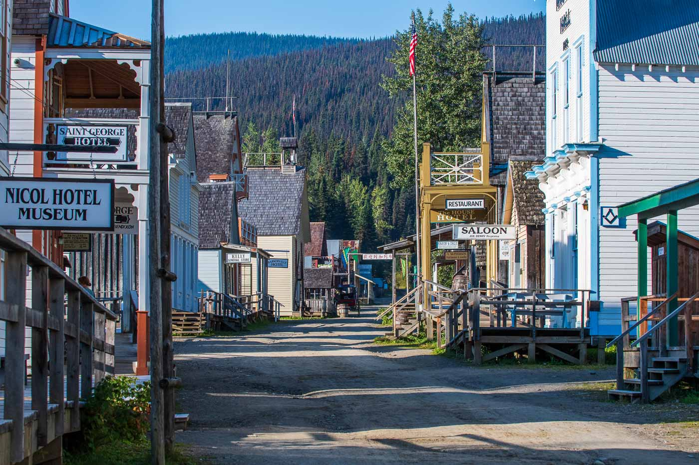 Main street, Barkerville BC Canada, artistic photography workshops