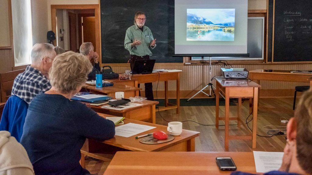 Classroom for creative photography workshop, Barkerville BC Canada