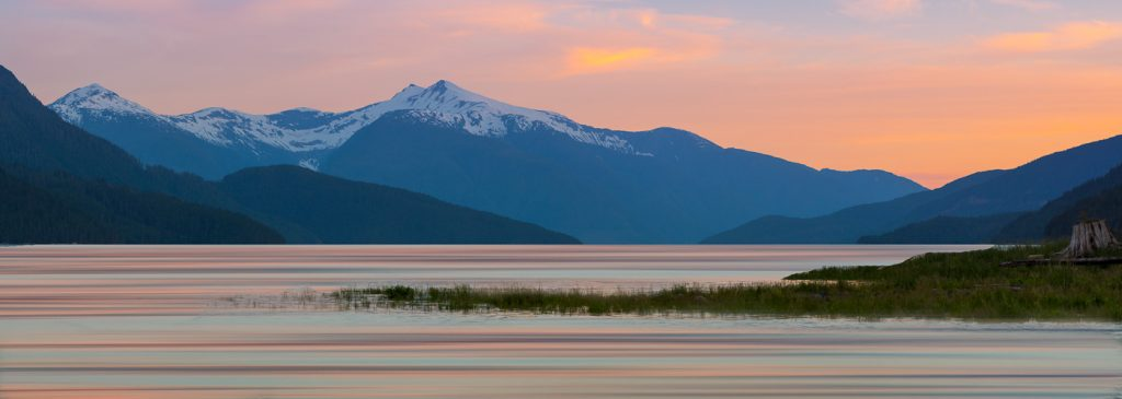 Sunset at Bella Coola creative photography workshop