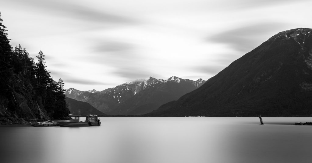 A long exposure image at Tallheo Cannery Guest house makes the sea appear calm.