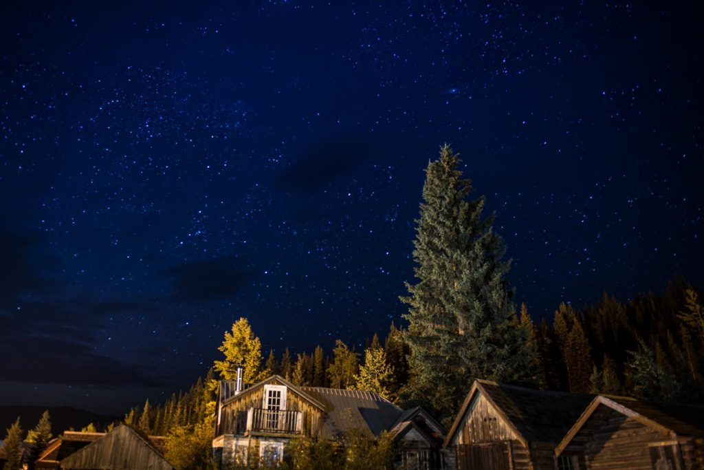 Night photography in Barkerville, BC with Dennis Ducklow and Chris Harris.